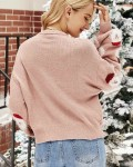 Women's Long Sleeve Knitted Santa Claus Christmas Sweater