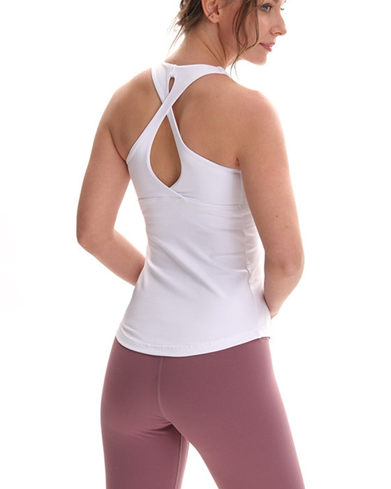 Women's Activewear Yoga Vest Solid Padded Running Fitness Top