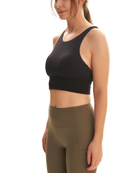 Women's Solid Shockproof Support Sports Bra Yoga Bra Without Wire
