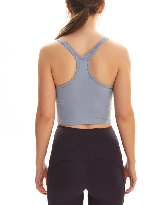 Women's Padded Yoga Vest Solid Moisture Wicking Sports Top
