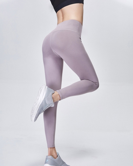 Women's Elastic High Waisted Yoga Pant Breathable Fitness Pant