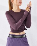 Women's Breathable Running Long Sleeve T-shirt Quick-Dry Fitness Sportswear