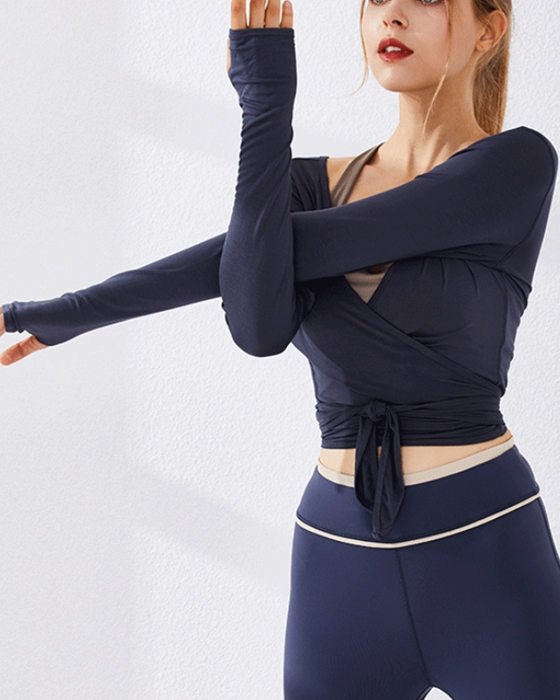 Women's Loose Long Sleeve Sports T-shirt Quick-Dry Fitness Sports Top