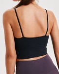 Women's Backless Padded Push Up Sports Bra Solid Fitness Yoga Vest