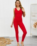 Women's Sexy  Butt Lifting Solid Fitness Yoga Bodysuit