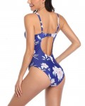 Women's Fashion Backless Swimwear Push Up One Piece Swimsuit