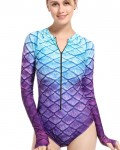 Women's Mermaid Freediving Suit Long Sleeve Swimsuit
