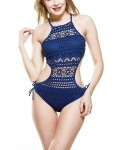 Women's Sexy Solid Swimwear Hollow Out One Piece Swimsuit