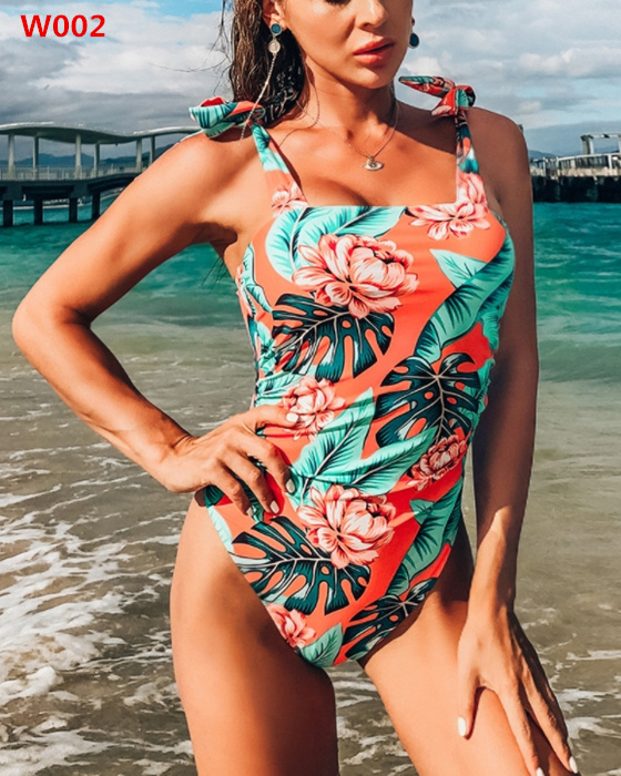 Women's Fashion Backless Bowknot One Piece Swimsuit