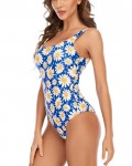 Women's Floral Swimsuit Backless One Piece Bathing Suit