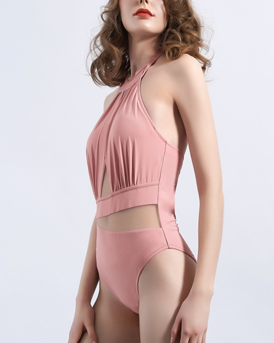 Women's See Through Mesh Swimsuit One Piece Bathing Suit